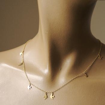 Silver Dickie Bird Charm Necklace