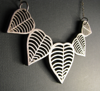 Heart Leaf Necklace - designed by Jamie Spinello -  Stainless Steel