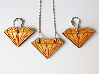 Diamond Necklace - Wood