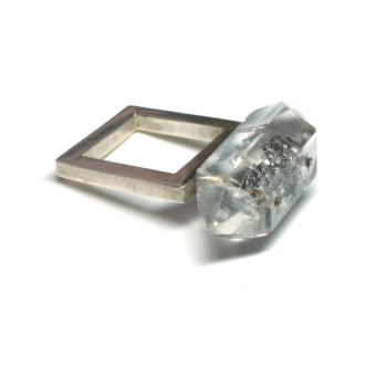 Smoky Quarts Silver Square Ring