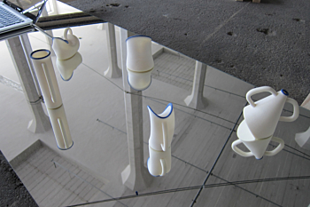 Mirrored Cups, 3D printing, conceptual art