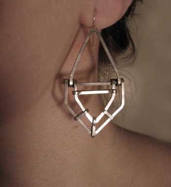 Art Deco Revival - Geometric Drop Design - Aluminum - Handmade