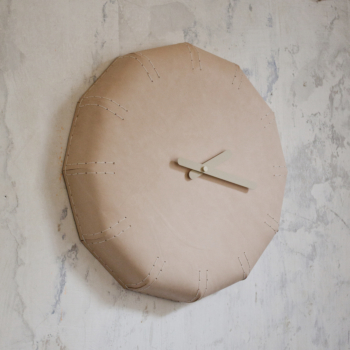 NOON leather wall clock 50 cm