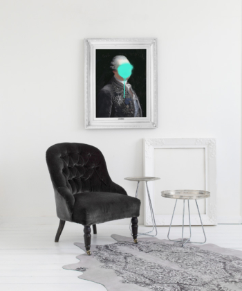 'Monsieur Mint' Stretched Printed Canvas- Small
