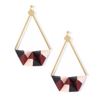 Tokyo mon Amour - Origami Earrings - Rose Quartz