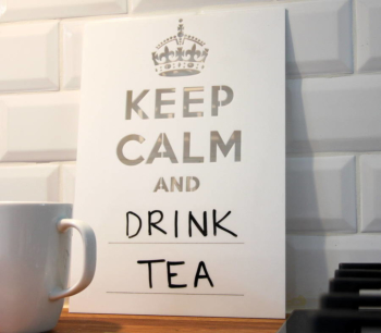 Keep Calm Board (White 300 x 400mm)