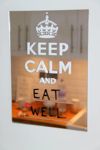 Keep Calm Board (Silver Mirror 300 x 400mm)