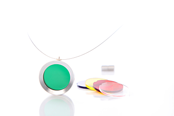 Iskin Pop Necklace - Large - Acrylic - Interchangeable - Contemporary Jewelry