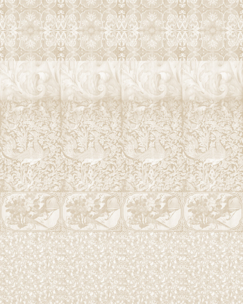 Arts & Crafts Patchwork Wallpaper - Beige