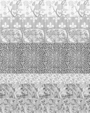 Arts & Crafts Patchwork Wallpaper - Black and White