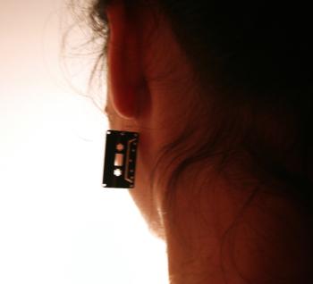 VINYL RECORD EARINGS