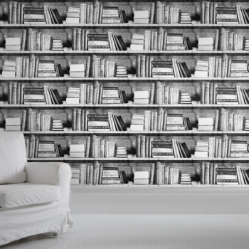 Photocopy Bookshelf Wallpaper