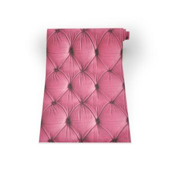 Pink Chesterfield Button Back Wallpaper