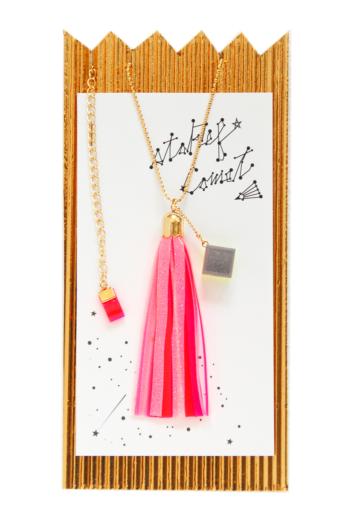 staRef Comet pendant : Pink×White