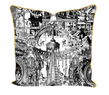 Sanctuary Skull Satin Cushion