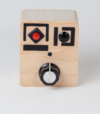 """Wood  Voice Recorder with Pitch Control Knob - """"Silver Tooth"""""""