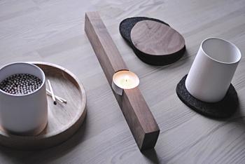 single tea light - walnut