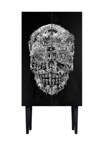 Sanctuary Skull Tall Cabinet