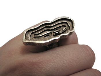 Topographic Ring - Stainless Steel