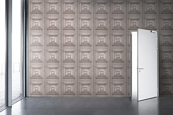 Bleached Oak Victorian Panelling Wallpaper