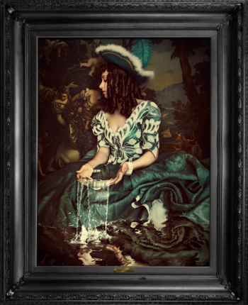 'Water is not enough...' Wallart Canvas with printed frame