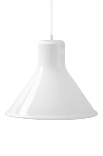 White Funnel Pendant Lamp