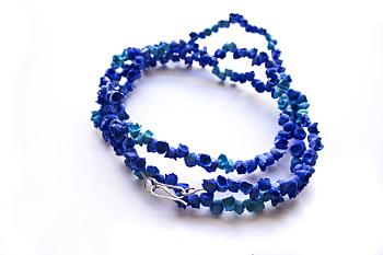Posidonia Extra Long Blue Necklace