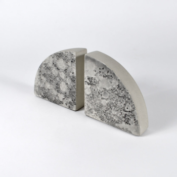Moon Bookends - Grey