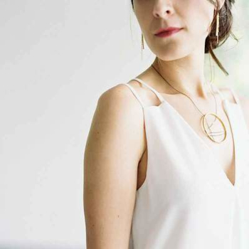 Mondrian Necklace Silver and Gold