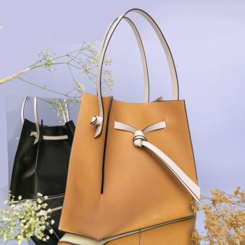 New Dizzy bag, tricolor vacchetta/black/white
