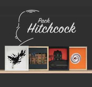 Hitchcock's Collection (limited edition paper artwork inspired by Alfred Hitchcock's movies)