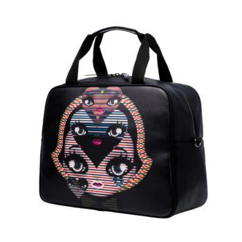 [MARI MARI] Black Pop Art Duffel Bag