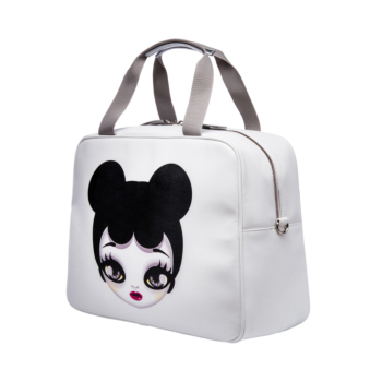 [MARI MARI] White Pop Art Duffel Bag