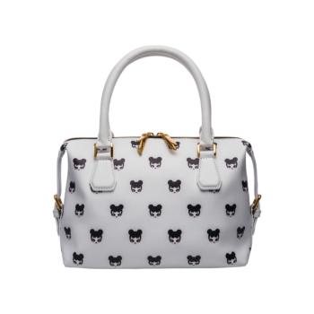 [MARI MARI] White Pop Art Tote Bag
