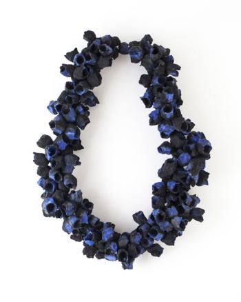 Posidonia Necklace Medium Blue/Black