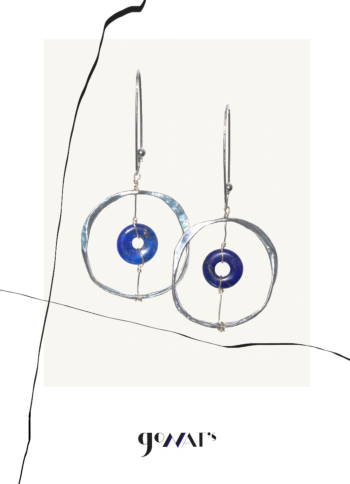 Dione Sterling Silver Earrings with Lapis Lazuli