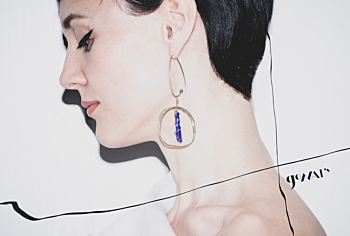 Mendoza Sterling Silver Earrings with Lapis Lazuli