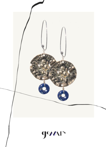 Incaza Sterling Silver Earrings with Lapis Lazuli