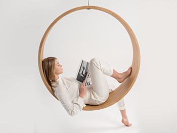 Swing model n.2 acts as a gentle rocking chair
