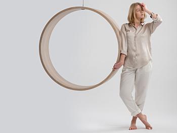 Swing model n.3 showcases elegant woodwork
