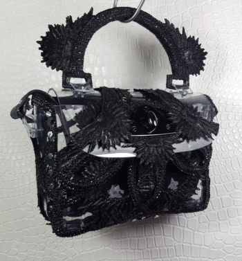 PRINTED HANDBAG BLACK 1